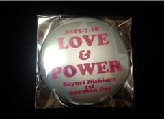 缶バッジ(大)LOVE&POWER
