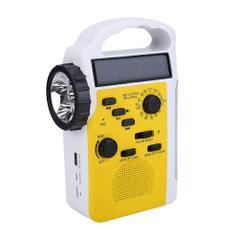 LED ラジオ ライト 懐中電灯 FM/AMラジオ スマホ充電 非常用ライト 音楽 手回し充電 ソーラー充電 USB充電 ランタン付き 緊急災害対策