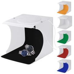 LSP-tech 撮影ボックス ライト付き USB電源 折りたたみ式 背景6色布付属