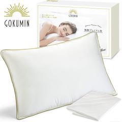 GOKUMIN(極眠) 枕 まくら pillow 快眠 安眠 肩こり 【独自技術であなたの睡眠を改善するふわっとやわらかい極上枕】 (シングル)