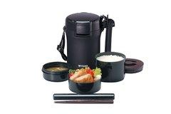 タイガー 魔法瓶 保温 弁当箱 ステンレス ランチ ジャー 茶碗 約 3 杯分 ブラック LWU-A172-KM Tiger