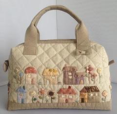 ハウスとお花のミニボストン型2WAYバッグ