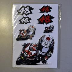 "TomizawaShoya OFFICIAL STICKER オフィシャルステッカー""48RUN""セット"