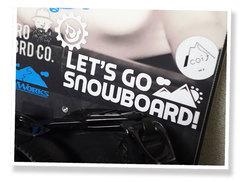 【NEWカラー入荷】レッツゴースノーボードオリジナルステッカー ロゴタイプL(横15cm縦4.2cm)
