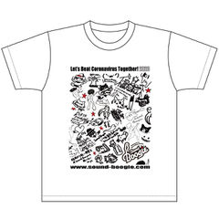 boogieT-1 コロナをやっつけろTシャツ(白)