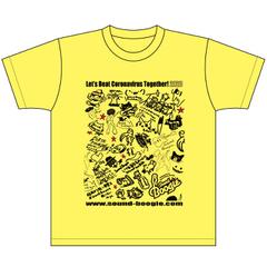 boogieT-2 コロナをやっつけろTシャツ(黄)