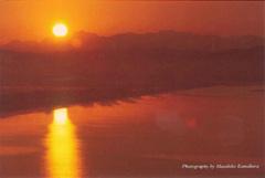 ポストカード 朝焼けの河北潟