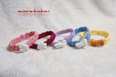 【再入荷】リフ編みフチ柄付き首輪 22cm 輪っかタイプ<選べる色系>