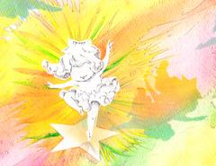 「星の子、踊る踊るⅡ」ポストカード