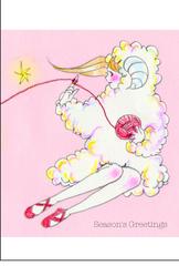 「ひつじちゃん」ポストカード