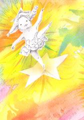 「星の子、踊る踊るⅠ」ポストカード