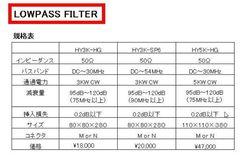 HY3K-SP6|LPF|ローパスフィルター|サガミエンジニアリング