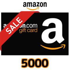 [20%割引セール]Amazon ギフトコード(5,000円券)