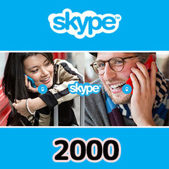 Skypeプリペイドカード(2000円)
