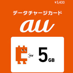 auデータチャージカード5GB (5,400円)