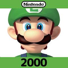 Nintendoプリペイドカード(2000円)