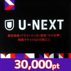 U-NEXTポイント(30,000pt)