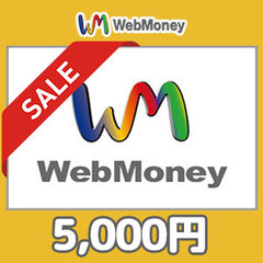 [20%割引セール]WebMoneyコード(5000円コード)