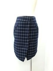 韓国ファッション ブロックチェックスカート