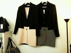 韓国ファッション ドット柄ロングJK