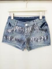 韓国ファッション スパンコールショートパンツ