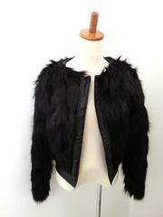 韓国ファッション ラビットファーショートジャケット