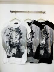 韓国ファッション ストーン付きウォッチT