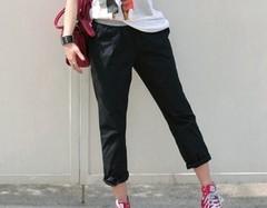 韓国ファッション ゆるバギーパンツ