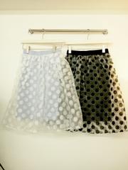 韓国ファッション  ドット柄スカート