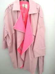 韓国ファッション 配色ジャケット