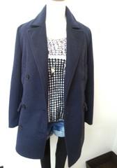 韓国ファッション ダブルボタンスタンドカラーコート