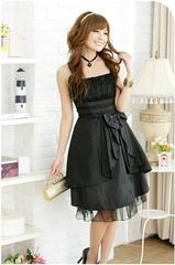 ベアトップミディアム丈ドレス(2色)