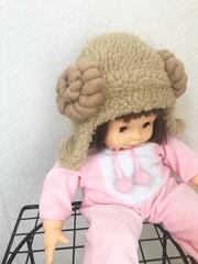 1738 もこもこ羊の耳あて帽★1~2歳幼児向け