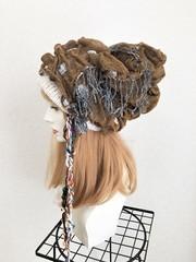 1629 ぶかぶかシルエットのボリュウムニット帽