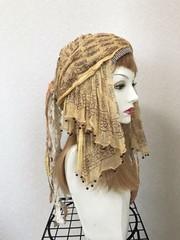 1605 シャラシャラ布巻き帽:秋仕様