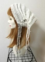 1379 雪ひらクシュクシュ帽子ターバン