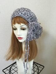 1385  雪ひらラヴリィ:灰紫 ★お着替えお花♪ 再販!