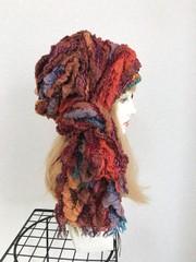 1821 布巻き帽:オレンジカラホー(ロング)