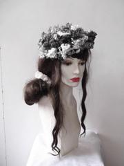 482 夢見る花ベレー:黒