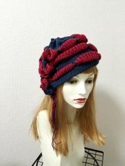 1353 赤血球ぷくウネ帽子