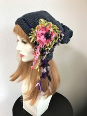 1528 巻き貝+お花と葉のハットピン(別売り)