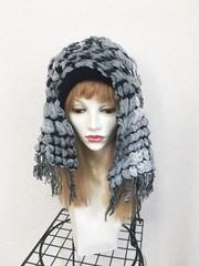 1830 布巻き帽:ぷくぷくモノトーン