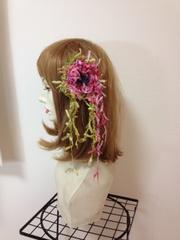 お花と葉のハットピン