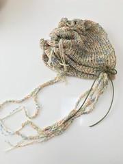 1574 リボン編む、春の木漏れ日ニット
