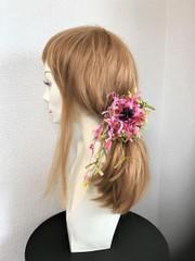 お花と葉のハットピン★ミニ
