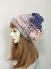 1506 和み虹色やさしい帽子:パステル