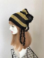 1599 金運UP!?★黄金ミツバチ帽子
