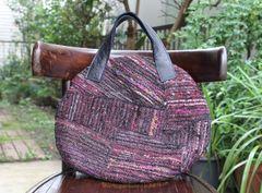 <o-b101>裂き織布の手提げバッグ