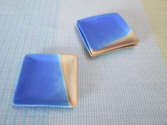 四角豆皿(ブルー) へ29-9-5