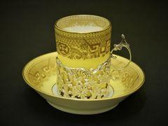 純銀&超美品!英国貴族のコーヒーカップ&ソーサー